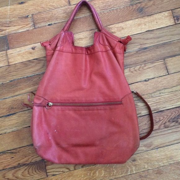 Foley & Corrina Mid City Red Bag. Well worn. Well worn with damages on bottom. Still gorgeous red. Foley + Corinna Bags Totes