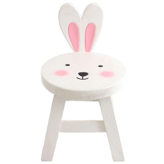 Cute Bunny Rabbit Stool, Baby Girl Nursery Bedroom Ideas, Decor and Furnishing Accessories, Cute Bunny Rabbit Chair