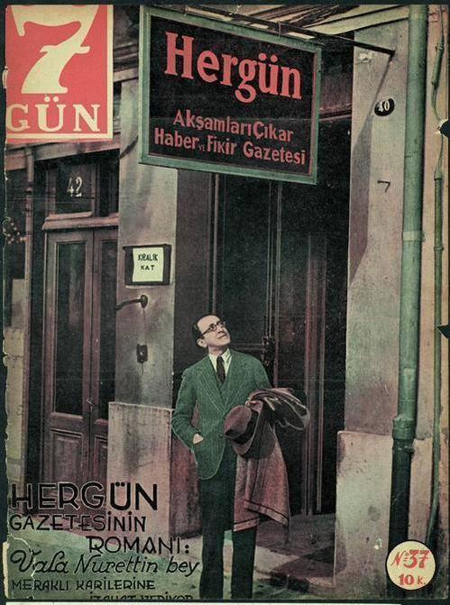 Ahmed Vâlâ Nureddin (Vâ-Nû) (1901-1967)  İstanbul - Hergün gazetesi önü