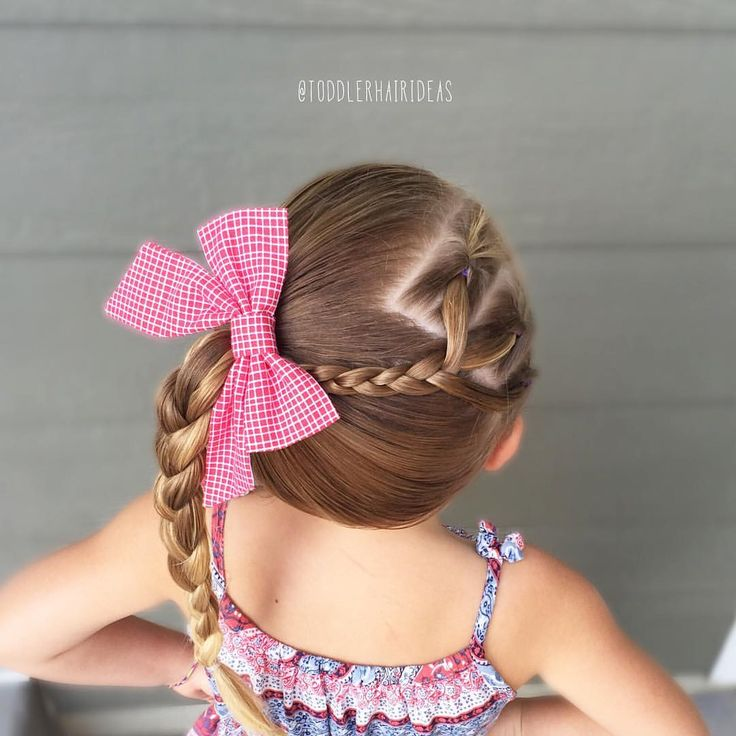Flips, braids and a high side pony braid! Toddler hair styles