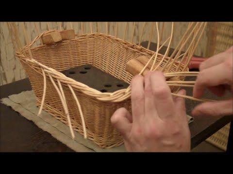 """Плетение корзины -Микс из кромок+косичка с """"вывертом""""-Basket Weaving - YouTube"""