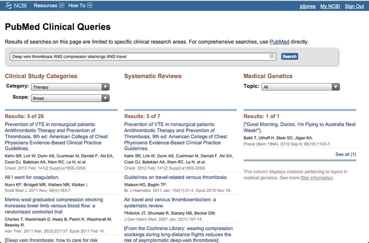 PubMed's Clinical Queries:  Using Evidence Based Medicine in Clinical Situations