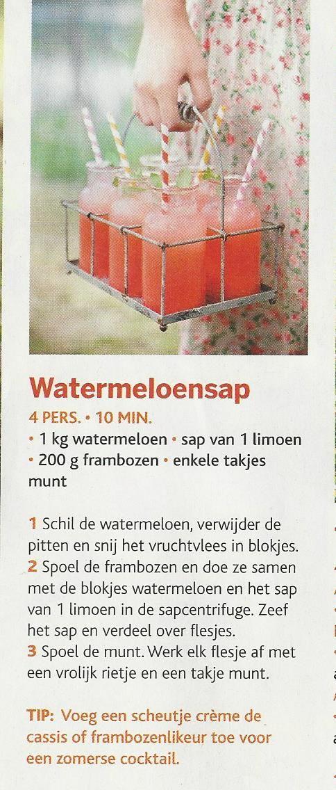 watermeloen-sap Ideaal om een teveel aan watermeloen in op te werken