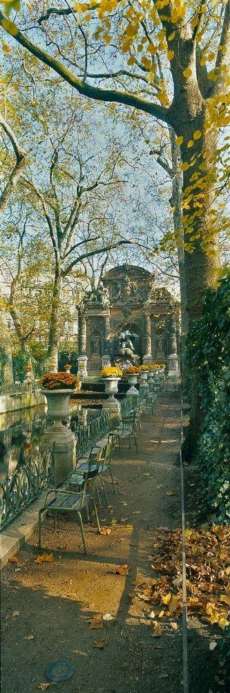 Autumn at Medici Fountain, Parc du Luxembourg, Paris