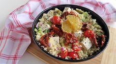 Aszalt paradicsomos kuszkusz saláta