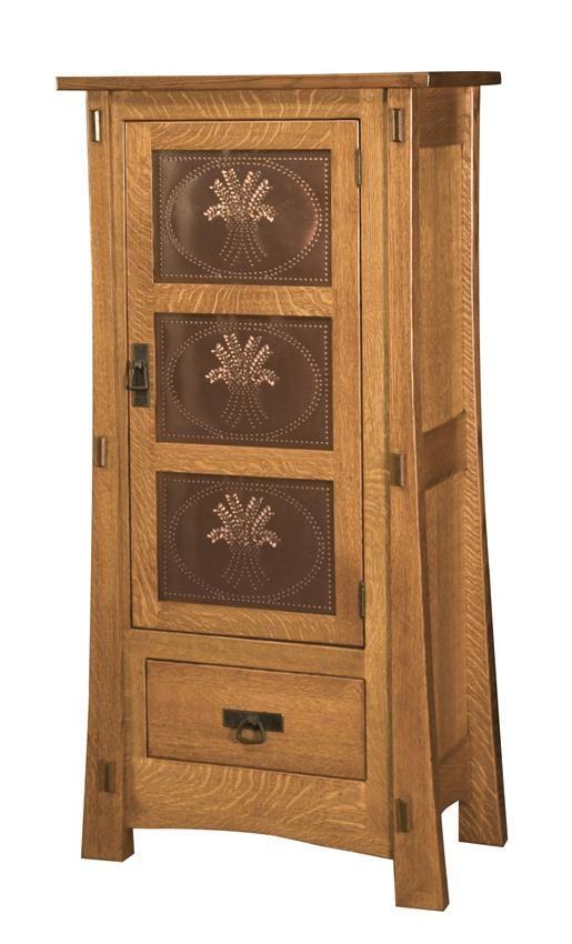Superior Amish Modesto One Door Jelly Cabinet
