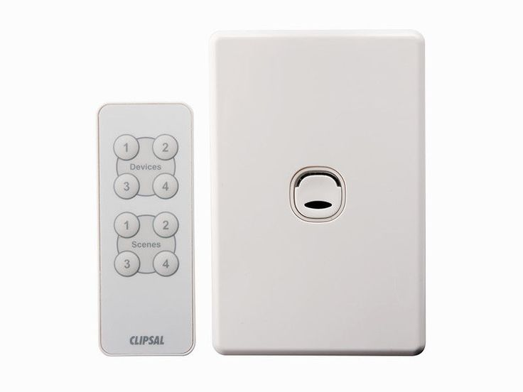 Clipsal push button wall light switch dimmer remote control C2031E2PUDR Classic