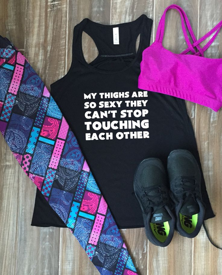 Workout Shirt Funny - Cute Fitness Leggings - Gym Tank - Workout Outfit