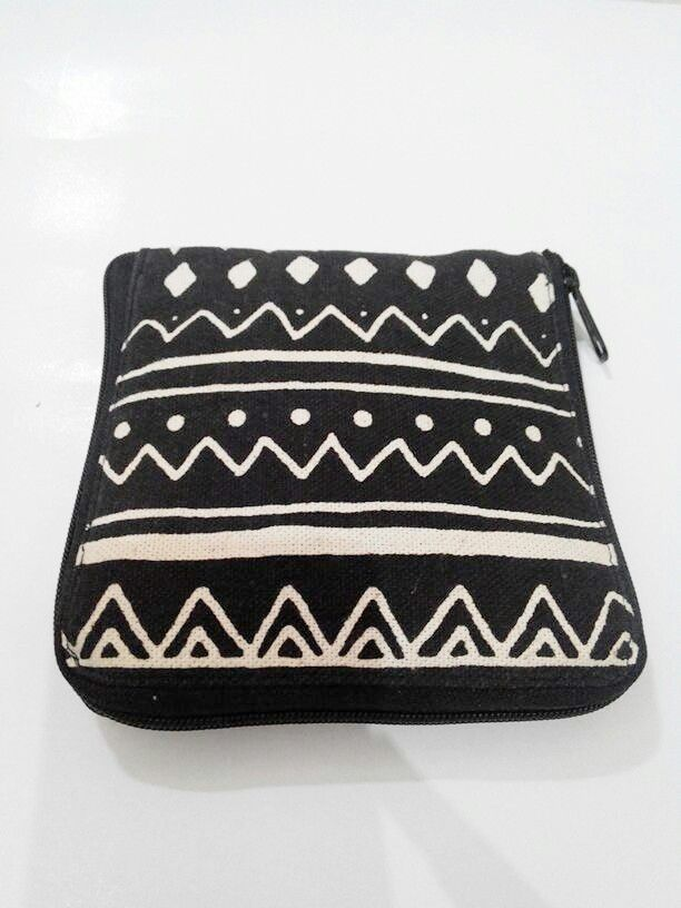 Folding bag after folded.  #native #canvas #tribal #navajo #ethnic