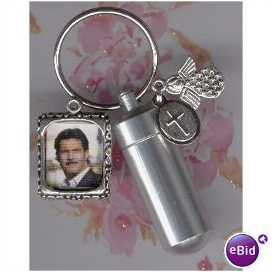Silver Urn,Keychain Urn,Memorial Urn,Cremation Jewelry Listing in the Human,Cremation Urns,Memorials & Funerals,Occasions & Seasonal Category on eBid United States | 114372281