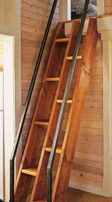 Маленькая лестница на второй этаж-минимум проем. | Столярный блог.