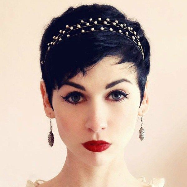 Daneloo Pixie Hair Accessories Short Wedding Hair Hair Styles 2014