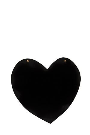 """Write notes and quotes for the day or shopping lists on this heart chalk board.<div class=""""pdpDescContent""""><BR /><b class=""""pdpDesc"""">Dimensions:</b><BR />L34xW38xH0.5 cm</div>"""