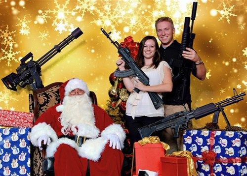 Bad Family Photos Santa Guns