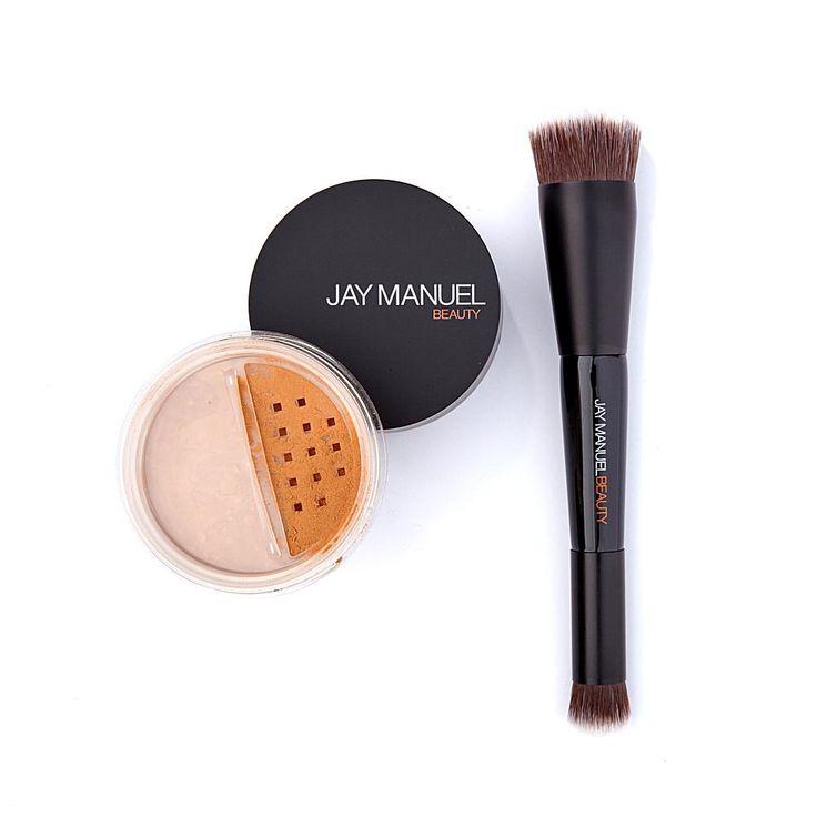 Jay Manuel Beauty® Powder to Cream Foundation with Kabuki Brush - Tan
