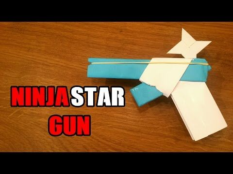 How To Make a Paper Gun That Shoots Ninja Stars - With Trigger - YouTube