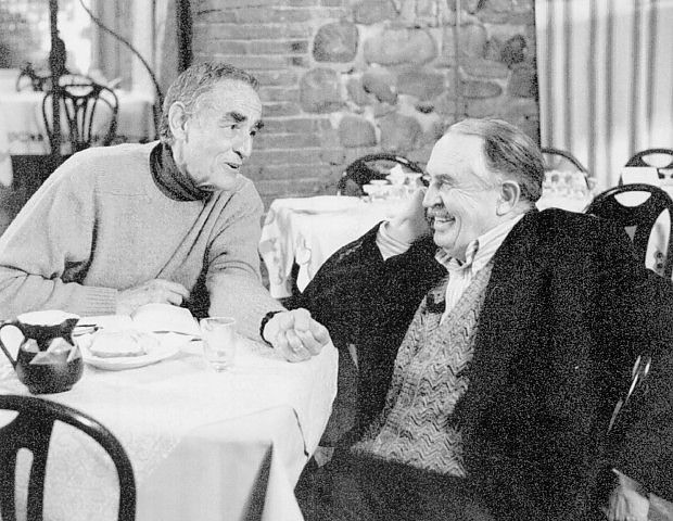 Vittorio Gassman and Tonino Guerra