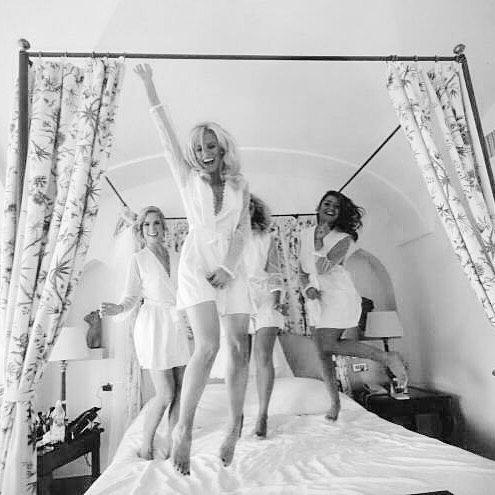wedding styling for celebrity makeup artist - TV host Mikaela South and her bridesmaids in Ravello Positano amalfi coast www.janitahelova.com