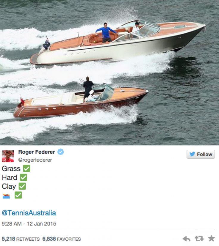 Tennis Stars Roger Federer and Lleyton Hewitt play speedboat tennis!! | Yachting Magazine