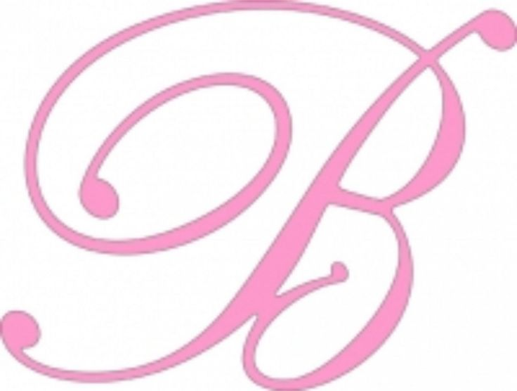 B Script Alphabet Pinterest Scripts