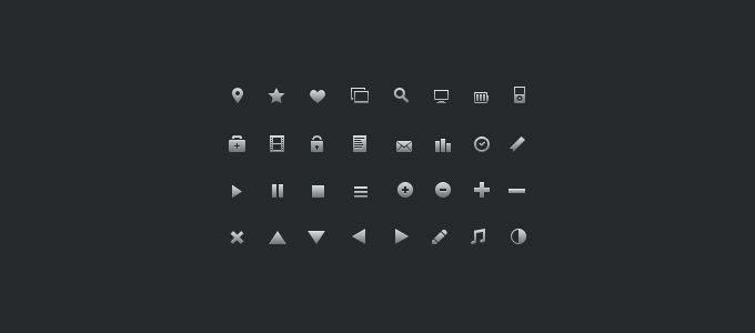 16px Glyph Icons - 365psd