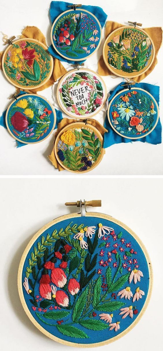 Embroidery by Lauren Singleton // hoop art // text hoop art