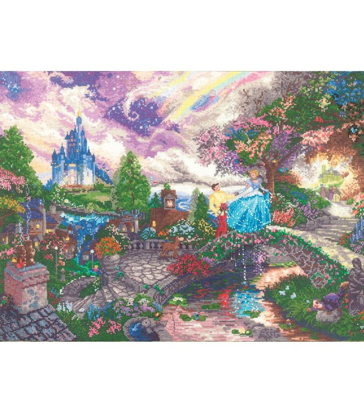 This is what I am working on right now... Thomas Kinkade Cinderella Wishes Counted Cross Stitch Kit