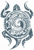Tribal Schildpad Tattoo