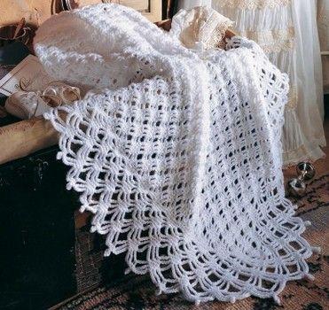 Enchanting Diamonds crochet baby afghan pattern