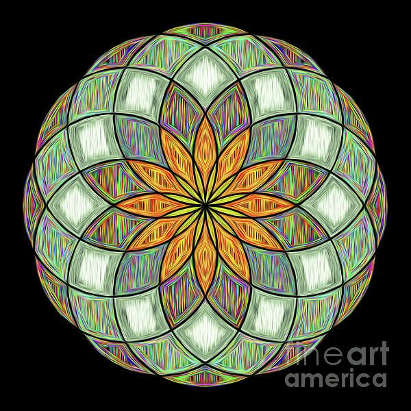 #Flower #Mandala Painted by #Kaye_Menner #Photography Quality Prints Cards Products at: http://kaye-menner.pixels.com/featured/flower-mandala-painted-by-kaye-menner-kaye-menner.html