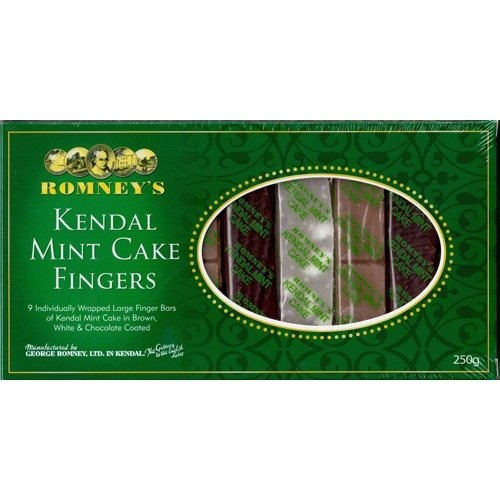 romneys kendal mint cake fingers  -found these at Clivedon, certainly high in calories, but a unique taste and energy pick me up