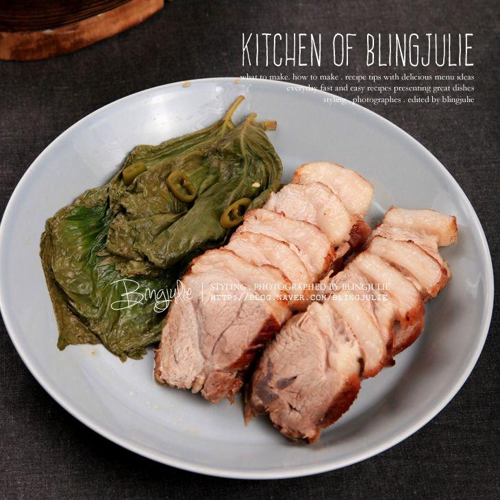[요리 레시피 & 돼지고기 앞다리살 손질.사용법] 바삭 보쌈 맛있게 삶는법 - 씹는 맛이 살아있다 일반...