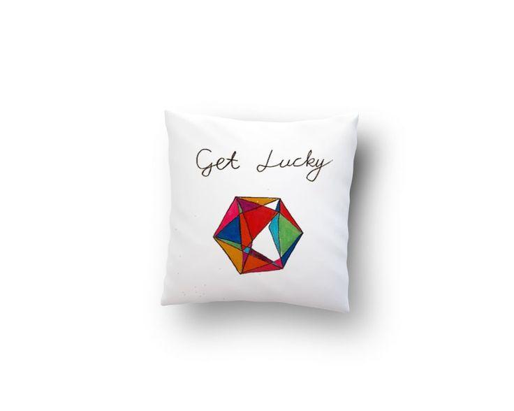 Get lucky -El Yapımı Ev Dekorasyonu Yastık Zet.com'da 24.90 TL