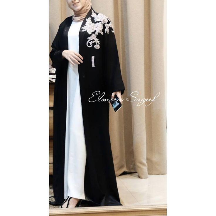 Amarilla Abaya Kimono abaya & outer - details w/ pearls & swarovski ✨ . . . #abaya #abayamagazine #abayalovers #abayaouter #abayablogger #abayastyle #abayas #blackabaya #glamabaya #dubai #dubaifashion #uae #qatari #bbloger #fashionblogger #swarovski #abayaswarovski #abayapearl #elmirasageef #elmirasageefatelier #simplycovered #hijab #hijabstyle #hijabblogger #hot #new #love