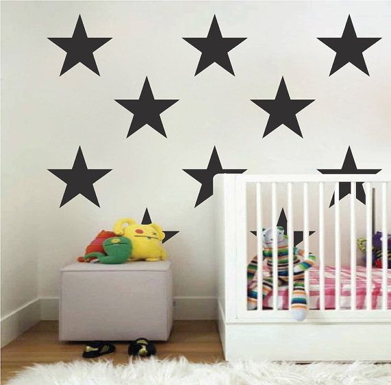 Large Bedroom Star Stickers Big Star Wall By TrendyWallDesigns
