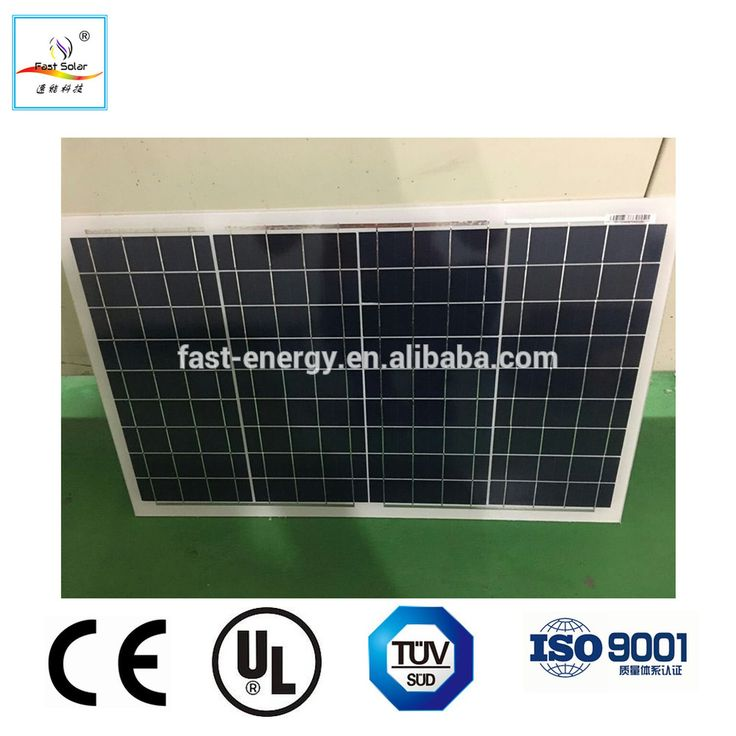Mono & Poly 45W 50W 55W 60W Photovoltaic Pv Solar Panel Module For Home Use