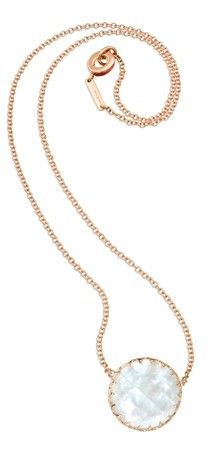 """Necklace in Rose Gold with Mother of Pearl 16"""""""