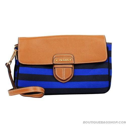 Cheap Prada Blue Stripe Clutch Bag in high quality | prada clutch ...