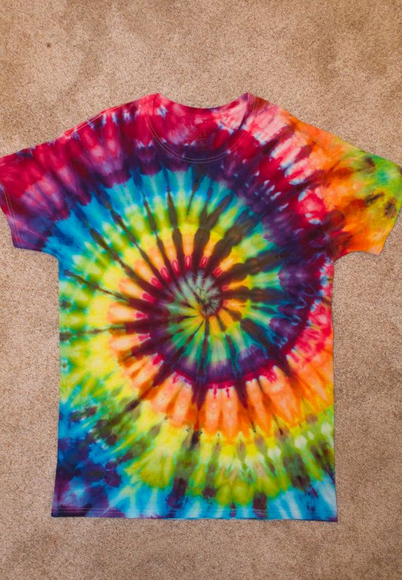 Spiral Ice Tie Dye by HypnoticTieDyes on Etsy