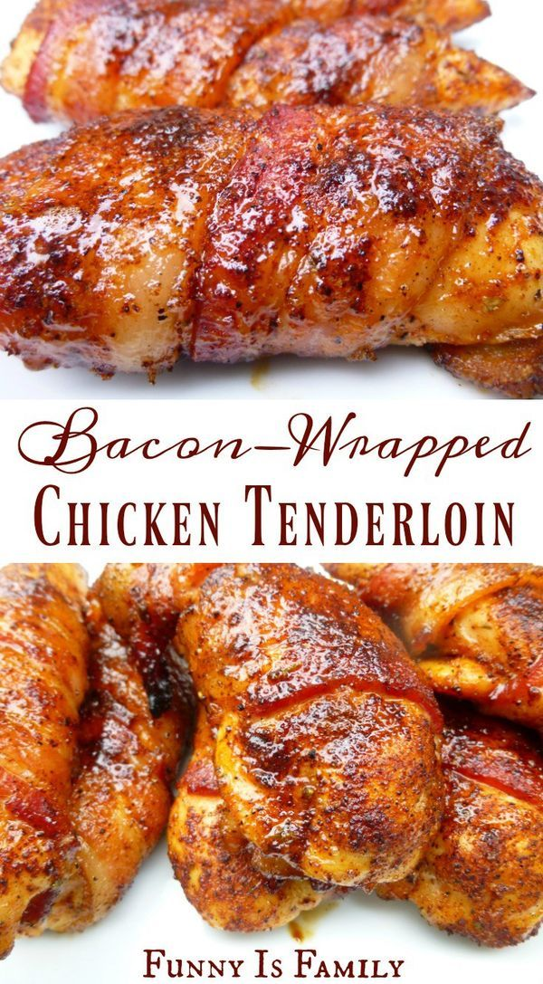 This Bacon-Wrapped Chicken Tenders recipe is as moist and delicious as it looks! In the oven or on the grill, this easy chicken recipe is perfect for dinner or a party appetizer!