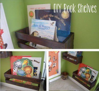 Crate Book Shelves