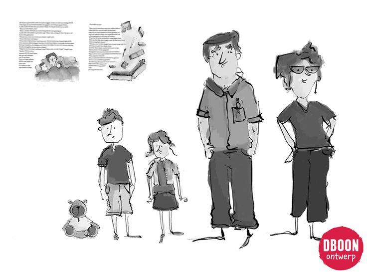 Book characters - op maat gemaakte illustraties illustration boek - dboon ontwerp