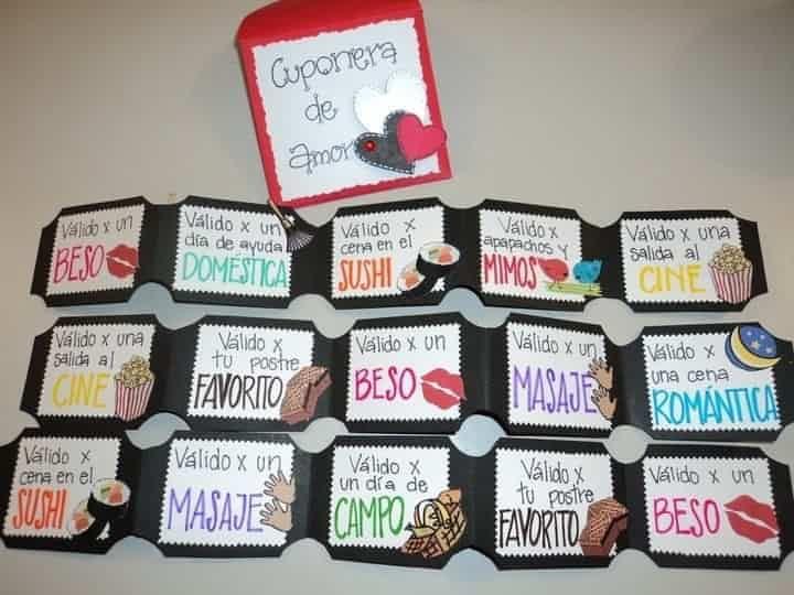 Hola preciosas!! : Esta es una de mis ideas favoritas sin duda!! Yo quiero una cuponera así!! Para mi próximo aniversario!! Qué les parece esta idea para celebrar le primer mes de casados?