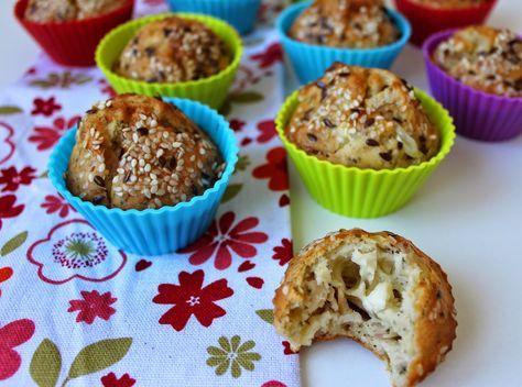 Slané muffiny ze spaldove mouky a se sezamem