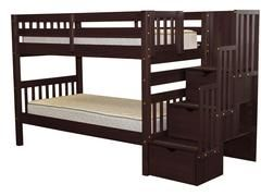 Bunk Beds Tall Twin Stairway Cappuccino | $675 | Bunk Bed King
