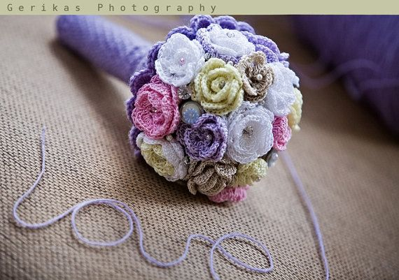 Handmade Crochet Wedding Bouquet by Ballerini on Etsy, £135.00