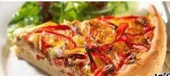 Paprika-uientaart Met Geitenkaas recept | Smulweb.nl