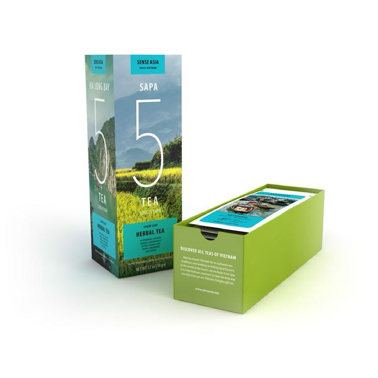 Vietnam Delight 5 herbal teas - with 10 tea pouches inside!! #tea #Vietnam #gift #herbal