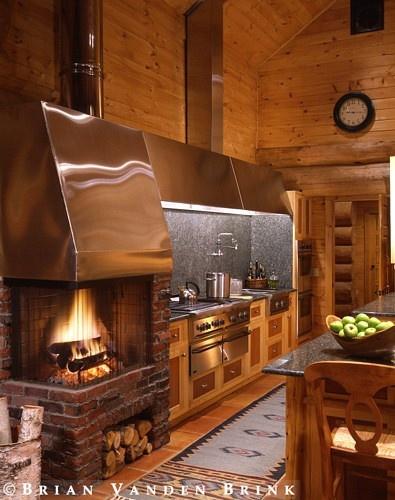 Fancy Cabin Kitchen