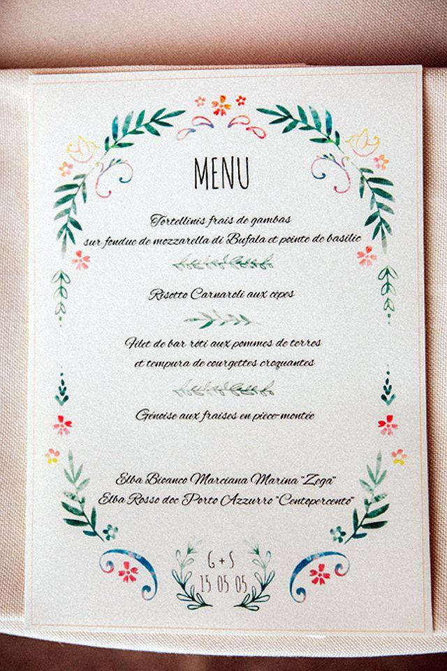 1000 id es sur le th me cartes de menu de mariage sur for Idee de menu entre amis